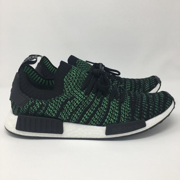 96e668bf49ea8 NO OFFERS Adidas NMD R1 STLT PK AQ0936 Green Black
